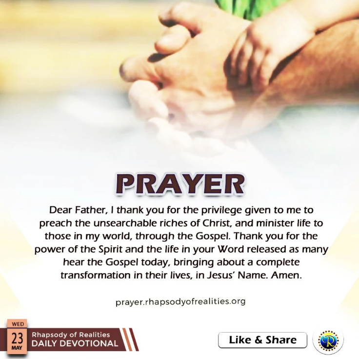 Prayer 23.05.18fdsf
