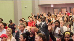 Section of the congregation worshipping the Lord. LoveWorld News