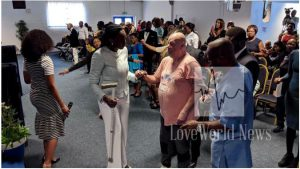 A man testifies of his healing at Christ Embassy Luton. LoveWorld News