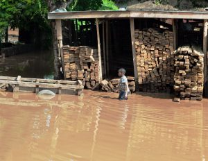 Homes wrecked by torrential rain