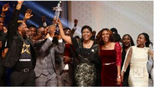 The International School of Ministry, headed by Pastor Deola Philips, celebrates win as first runner-up.