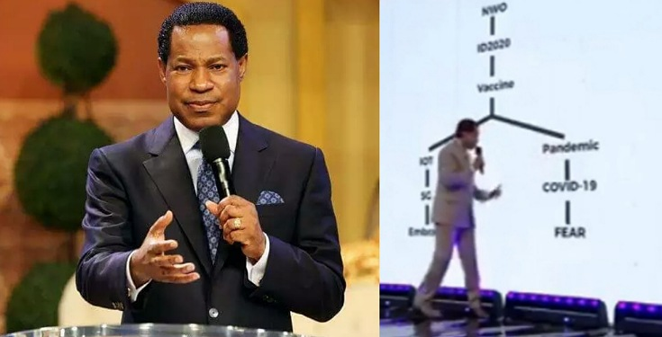 Pastor Chris Oyakilome sharing his own opinion on why he thinks the pandemic was created.